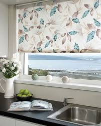 kitchen blinds ideas uk railux sumi teal roller blinds