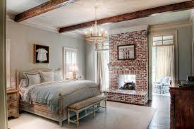creating natural bedroom decorating ideas with bricks expose