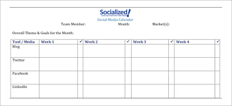 social media schedule template u2013 10 free sample example format