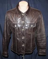blue motorbike jacket vintage 80 u0027s 90 u0027s brown leather gap blue jeans motorcycle