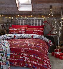 christmas slogans xmas king size quilt duvet cover bed
