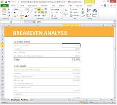 Cost Analysis Excel Template Simple Breakeven Analysis Template For Excel 2013