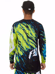 fly womens motocross gear fly racing lime black blue 2017 kinetic relapse mx jersey fly