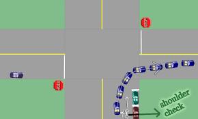 Driving Blind Spot Check Q Do I Need To Do Left Shoulder Checks For Left Turns