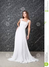 beautiful indian woman in white wedding dress stock photo image