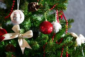 White Bows For Tree Tree Ornaments Stock Photo Image Of Glass 35142316