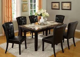 Marble Dining Room Tables Alluring Marble Dining Room Table And Chairs Wonderful Decoration