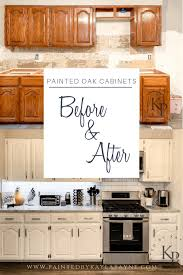 kitchen backsplash with oak cabinets and white appliances big kitchen refresh on a tiny budget painted by payne