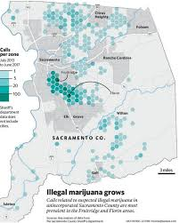 Recreational Marijuana Map Illegal Pot Farms Are Booming In Sacramento County The