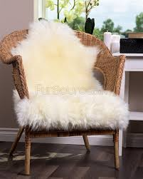 Fox Fur Blanket White Sheepskin Rug Single 2293 Jpg