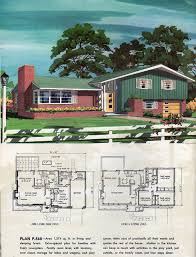 multi level home plans 1960 mid century house modern house plans and mid century modern