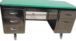 restored all steel tanker desk u2014 vintage modern
