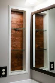 Recessed Bathroom Shelving Replacing Bathroom Medicine Cabinet With Open Air Shelf Guide