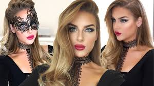 vampy smokey eye u0026 red lip tutorial halloween masquerade youtube