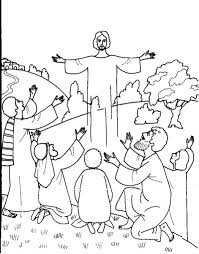 coloring page of jesus ascension jesus ascension coloring pages