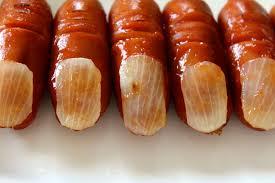 halloween finger food severed bloody sausage fingers for halloween ハロウィン