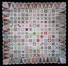 home made theater saratoga 1863 jane stickle quilt on display at the bennington museum