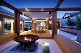 Outdoor Room Ideas Australia - massively modern timber terraces extend australian home outward