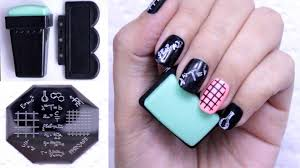 bornprettystore nail art stamp set u0026 template qa95 review youtube