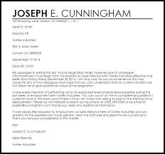 last minute resignation letter resignation letters livecareer