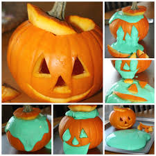 easy slime recipe for halloween slime in pumpkin