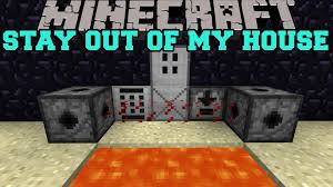 minecraft stay out of my house mines lasers and keycodes