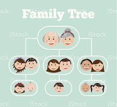illustration of a family tree with design stock vector