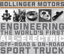 bollinger motors aims to develop u0026 release all electric on u0026 off
