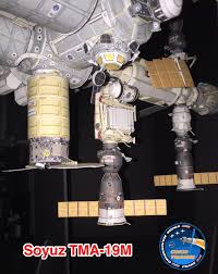 soyuz tma 19m arrival at iss axm paper space scale models blog