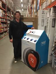 home depot nest thermostat rebate black friday nest display at the home depot los angeles retail bricks and