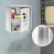 glass door medicine cabinet wall mountable medicine cabinet cupboard lockable keys first aid box