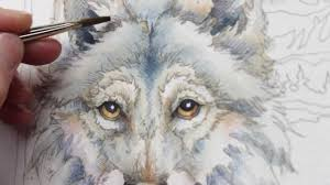 how to paint a wolf by jody bergsma youtube
