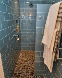 Showers Without Glass Doors Blue Ceramic Floor For Modern Shower Designs Without Doors With