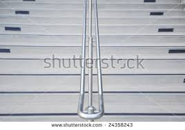 Chrome Banister Concrete Stairs Chrome Railing Center Stock Photo 24358243