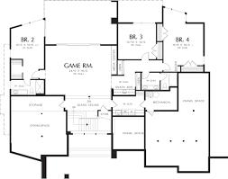 modern style house plan 4 beds 3 50 baths 4600 sq ft plan 48 457