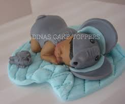 elephant baby shower cake topper name day door dinascaketoppers
