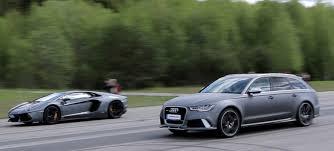 audi rs6 vs 50 p audi rs6 avant c7 700 hp vs lamborghini lp700 4 aventador