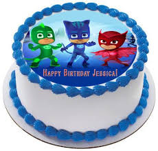 pj masks 1 edible cake topper u0026 cupcake toppers u2013 edible prints