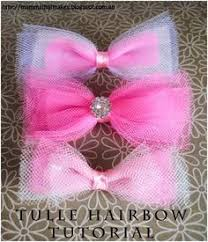 tulle hair bows tutu pink tulle hair bows for girl baby toddler child