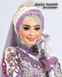 tutorial hijab syar i untuk pengantin foto rias pengantin muslim berjilbab wedding dress pinterest