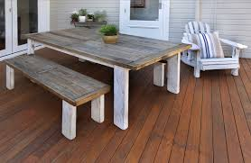 creative of recycled outdoor furniture white wooden outdoor table