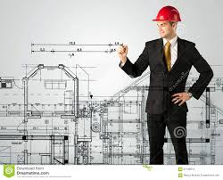 an young architect drawing a house plan stock photo image 67189213