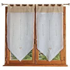 brises bises de cuisine fantaisie vitrage 2 rideaux vichy 60x90 cm blanc achat vente brise bise