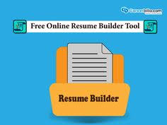 Online Resume Search Free by Cvmkr Online Resume Builder Resume Pinterest Online Resume