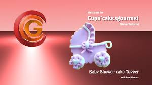 baby shower cupcake topper or cake side detail youtube