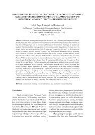 contoh membuat proposal riset desain metode pembelajaran cooperative pdf download available