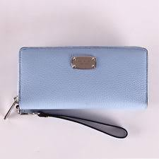 michael kors light blue wallet buy blue mk wallet off72 discounted