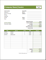 Lawn Maintenance Invoice Template by Lawn Care Invoice Template For Excel Excel Invoice Templates