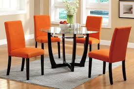 leather dining room chair contemporary dining coco furniture gallery furnishing dreams orange