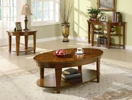 soft ultramodern living room side table decor ovale varnished wood